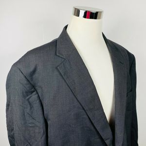 Jos A Bank 54R Sport Coat Black Gray Pindot Wool